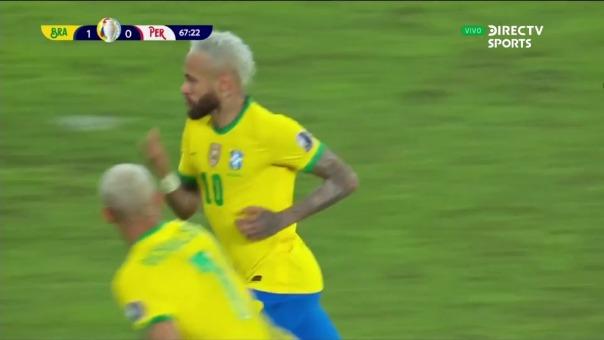 Brasil 2-0 Perú: así fue el gol de Neymar