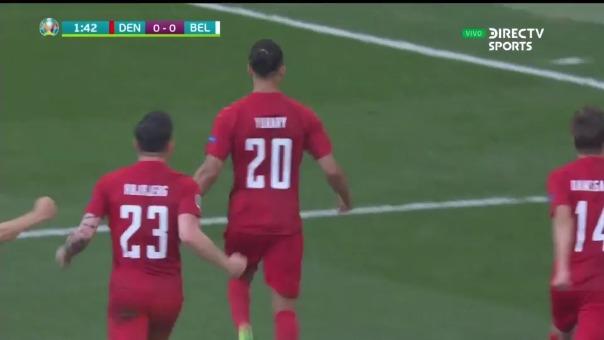 Gol de Dinamarca.