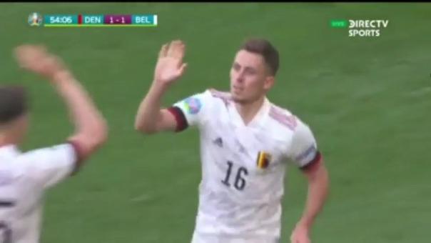 Thorgan Hazard anotó el empate 1-1 de Bélgica ante Dinamarca