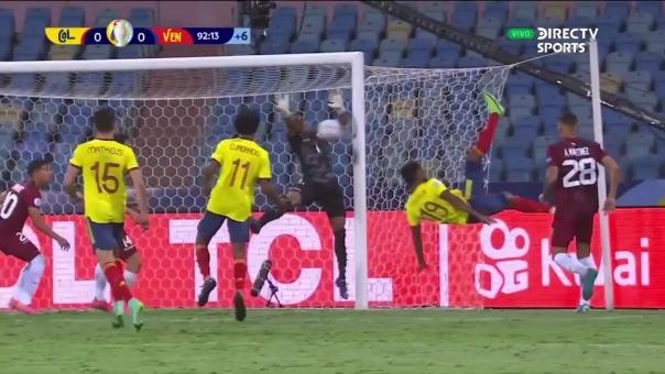 Wuilker Fariñez realizó ocho atajadas en el Colombia vs. Venezuela
