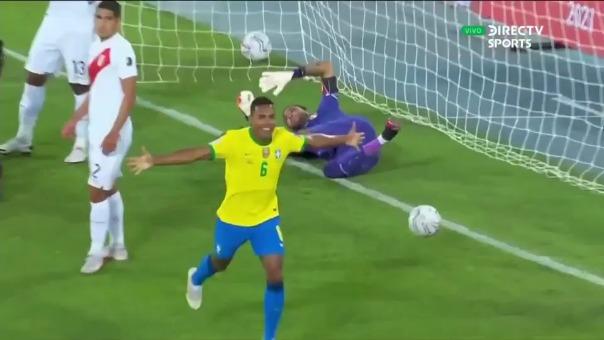 Alex Sandro anotó el 1-0 de Brasil ante Perú