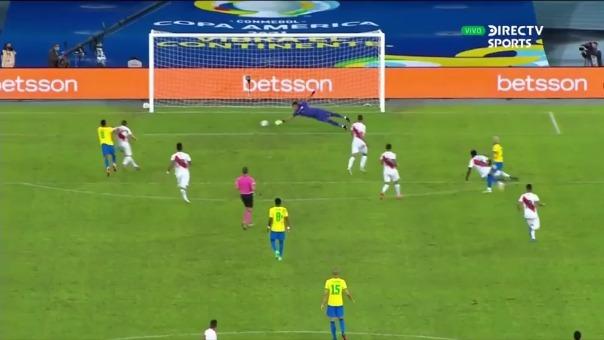Neymar anotó el 2-0 de Brasil ante Perú en la Copa América