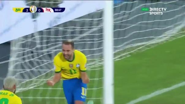 Everton Ribeiro marcó el 3-0 de Brasil sobre Perú