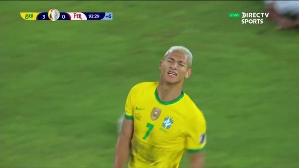 Richarlison convirtió el 4-0 de Brasil sobre Perú