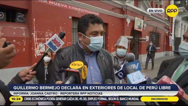 Guillermo Bermejo, congresista electo por Perú Libre.