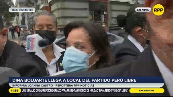 Dina Boluarte, candidata a la vicepresidencia por Perú Libre.