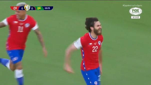 Ben Brereton anotó el 1-0 de Chile ante Bolivia