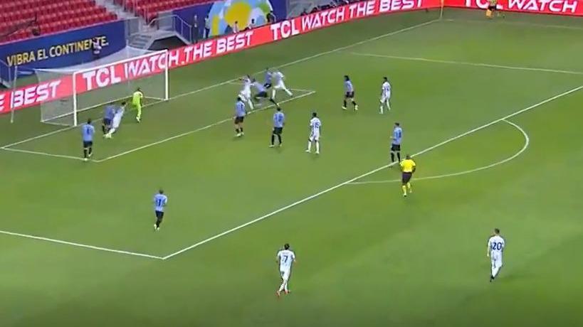 Este fue el 1-0 de Argentina contra Uruguay en Brasilia.