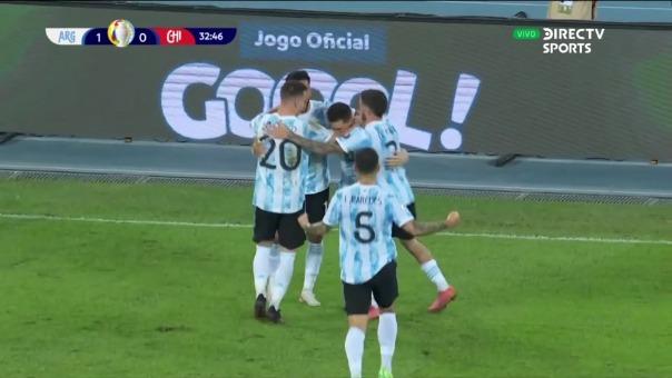 Lionel Messi anotó golazo de tiro libre ante Chile