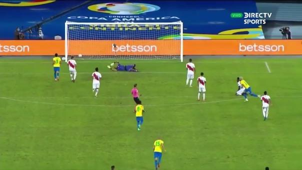 Gol de Neymar sobre Perú