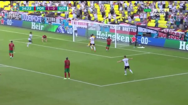 Portugal vs Alemania: así fue el gol de Ruben Dias