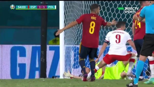 Así fue el gol de  Robert Lewandowski en el España vs Polonia