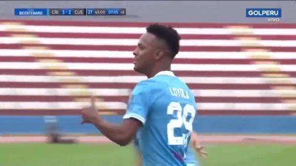 Nilson Loyola marcó el definitivo 3-2 de Sporting Cristal ante Cusco FC