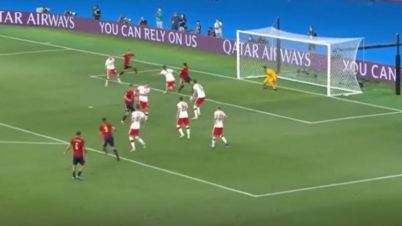 Así fue el gol de Álvaro Morata para la Selección de España.