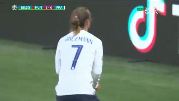 Antoine Griezmann marcó el empate 1-1 de Francia ante Hungría