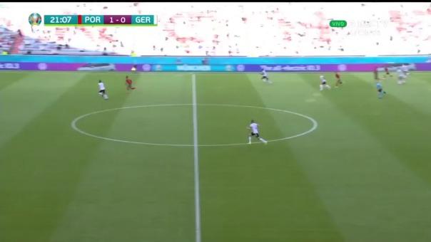 Cristiano Ronaldo dejó en ridículo a Rudiger en partido ante Alemania