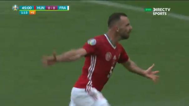 Attila Fiola anotó el 1-0 de Hungría sobre Francia