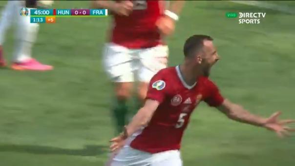 Attila Fiola anotó el 1-0 de Hungría sobre Francia en la Eurocopa