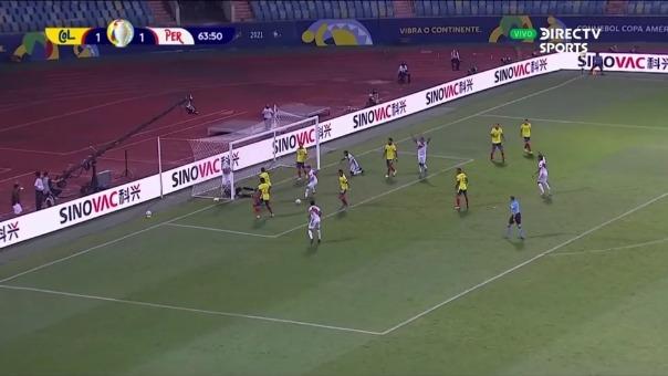 Perú 2-1 Colombia: así fue el autogol de Yerry Mina
