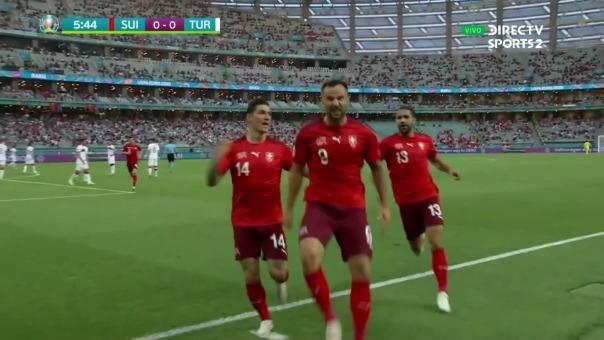 Suiza 1-0 Turquía: así fue el gol de Haris Seferovic