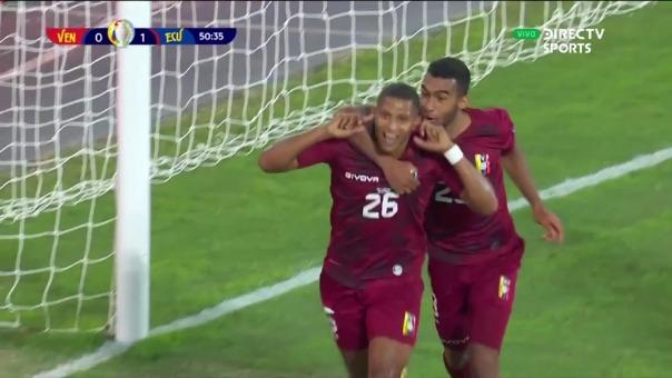 Venezuela 1-1 Ecuador: así fue el gol de Castillo