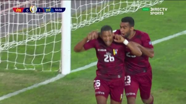 Ecuador 1-1 Venezuela: así fue el gol de Castillo