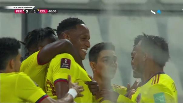 Yerry Mina puso el 1-0 de COlombia ante Perú en las Eliminatorias