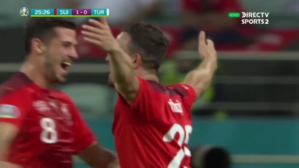 Suiza 2-0 Turquía: así fue el gol de Xherdan Shaqiri