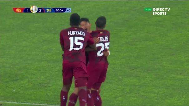 Venezuela 2-2 ECuador: así fue el gol de Ronald Hernández