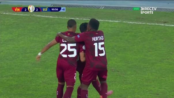 El gol que toda Venezuela gritó: Hernández lo marcó ante Ecuador por la Copa América