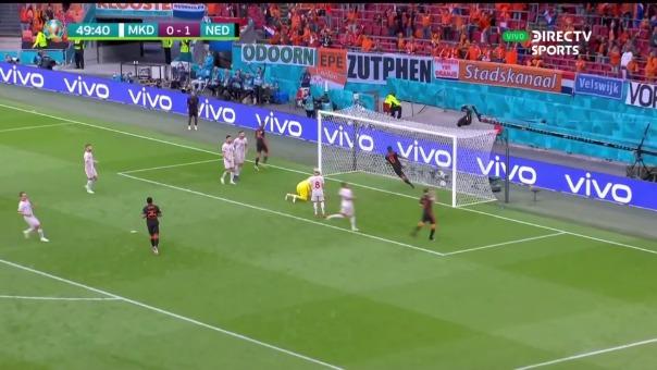 Así fue el gol Georginio Wijnaldum para el 2-0 en el Holanda vs Macedonia Norte