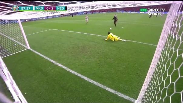Así fue el segundo gol Georginio Wijnaldum en el Holanda vs Macedonia Norte