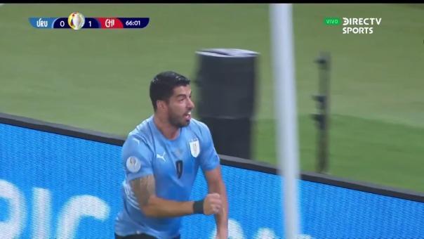 Así fue el gol de Luis Suárez en el Uruguay vs Chile por la Copa América