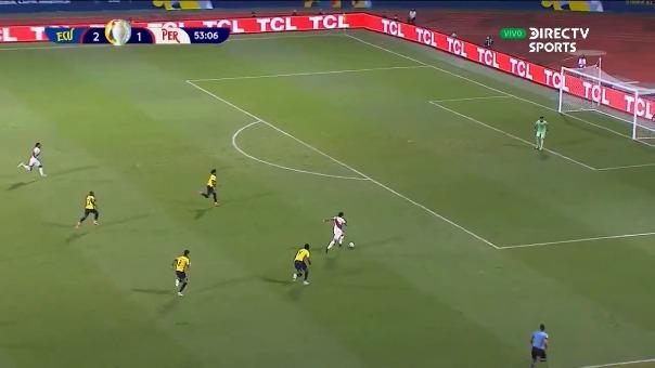 Ecuador 2-2 Perú: así fue el gol de André Carrillo