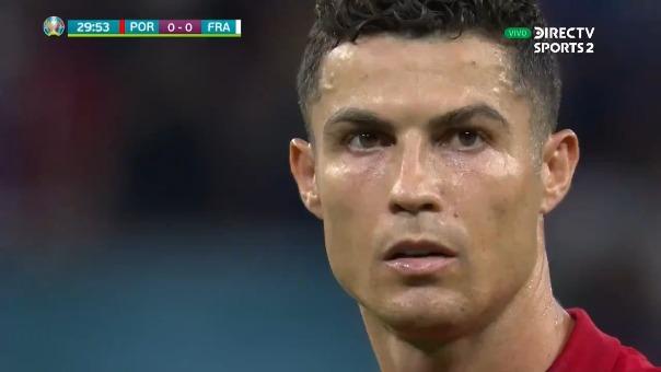 Cristiano Ronaldo anotó el 1-0 de Portugal sobre Francia