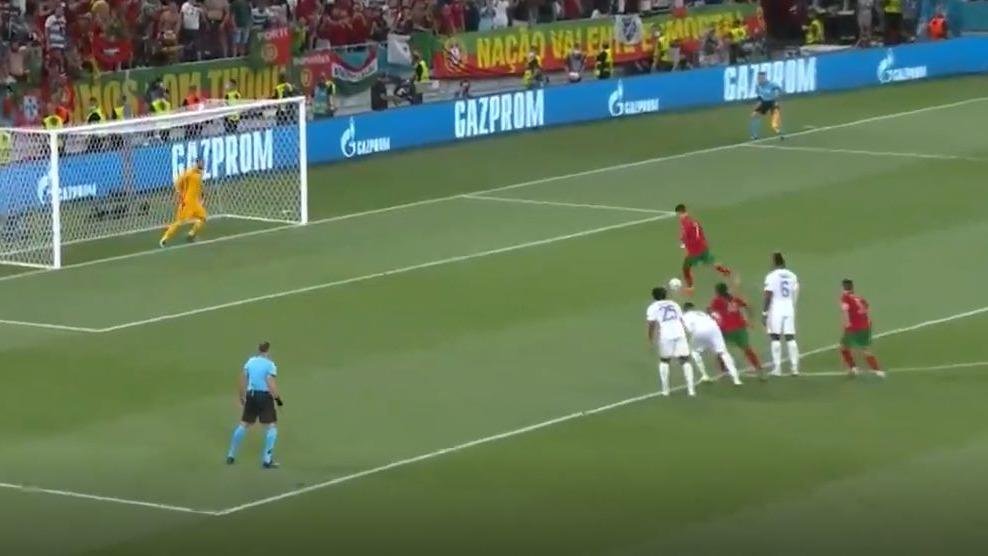 Así fue el gol de Cristiano Ronaldo ante la Selección de Francia.