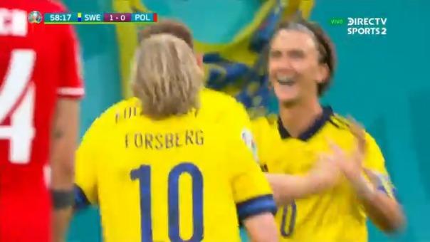 Emil Forsberg concretó el 2-0 de Suecia frente a Polonia
