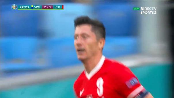 Suecia 2-1 Polonia: así fue el primer gol de Robert Lewandowski,