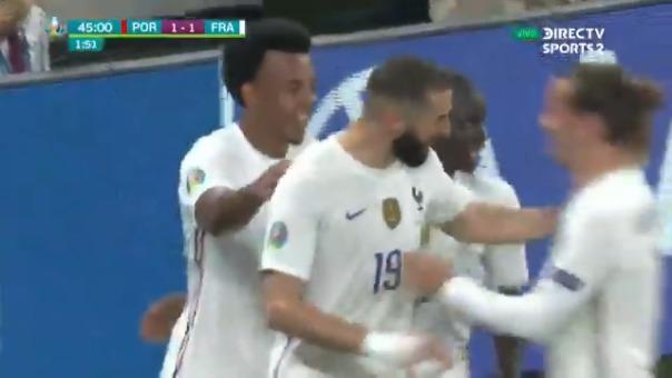Karim Benzema le dio el empate 1-1 a Francia ante Portugal