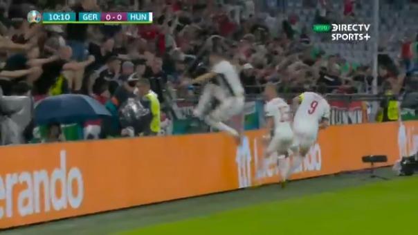 Adam Szalai anotó el 1-0 de Hungría ante Alemania