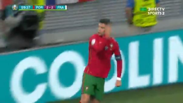 Cristiano Ronaldo marcó el 2-2 de Portugal ante Francia