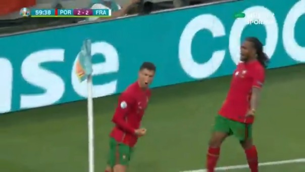 Cristiano Ronaldo anotó el 2-2 de Portugal ante Francia