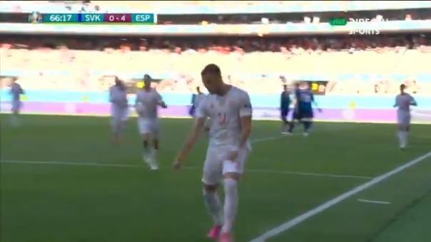 Ferrán Torres marcó el 4-0 de España en La Cartuja