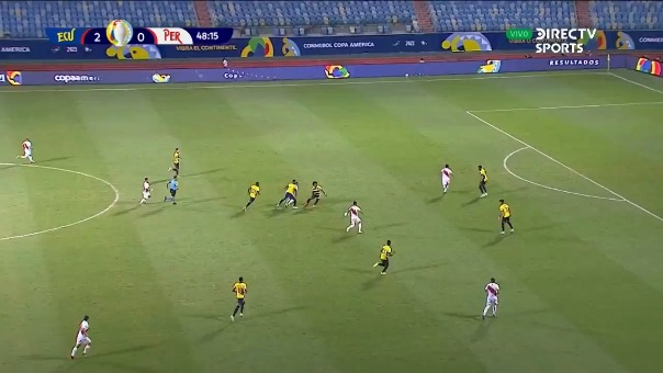 Perú 1-2 Ecuador: así fue el gol de Lapadula