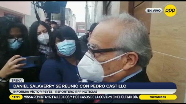 Pedro Castillo se reunió con personas cercanas a su candidatura.