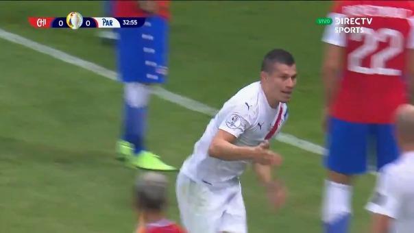 Braian Samudio anotó el 1-0 de Paraguay sobre Chile