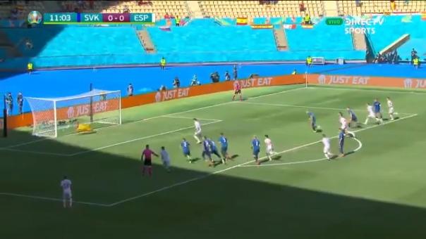 Álvaro Morata falló penal en el España vs. Eslovaquia.