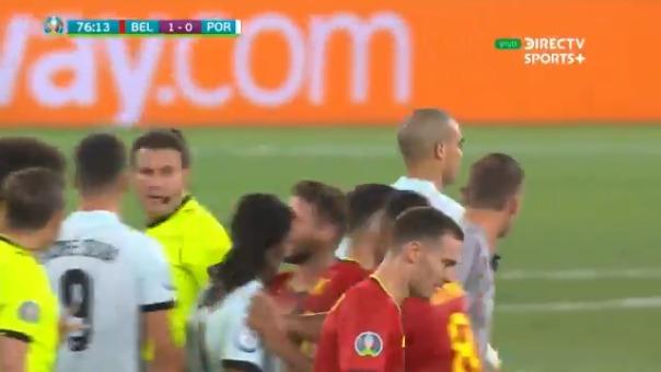 Pepe y la falta sobre Hazard que por poco provoca la bronca en el Portugal vs. Bélgica