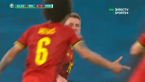 Gol de Thorgan Hazard para el 1-0 de Bélgica sobre Portugal