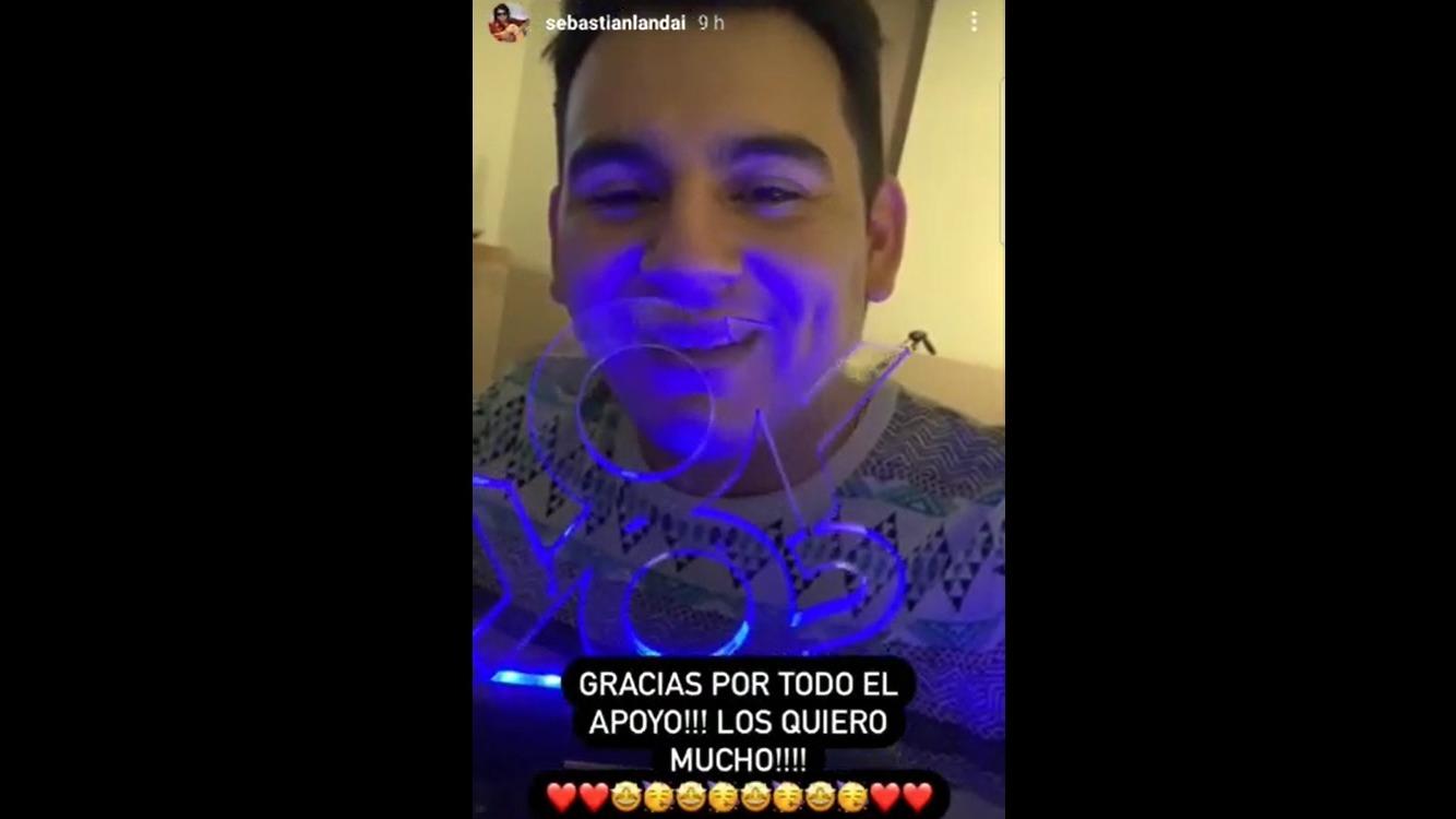 Sebastián Landa agradeció el apoyo de sus seguidores quienes lo acompañaron hasta la gran final de